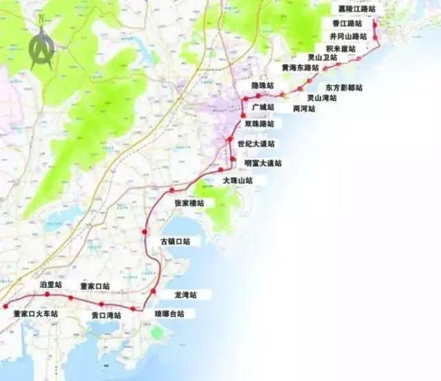 正文  预计2018年全线开通 青岛境内设红岛站,洋河口站 青岛西客站