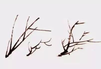 国画梅花枝干的处理技法