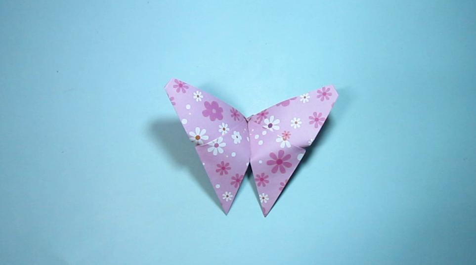 2分钟学会蝴蝶的折法 简单的蝴蝶手工折纸教程