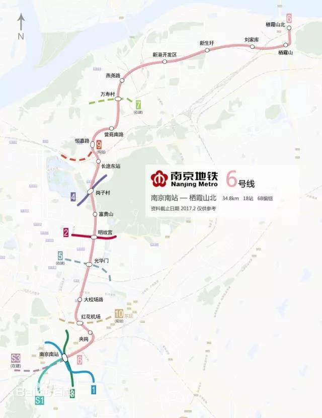 南京地铁1c�{�ޮg� �_南至南部新城的南京南站 南京地铁6号线将成为一条纽带 串起南京地铁1