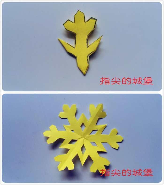 教大家一款简单的手工剪纸, 剪纸雪花的图解详细教程