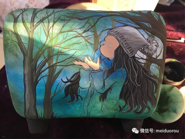 森林女孩手绘花盆(附步骤图)