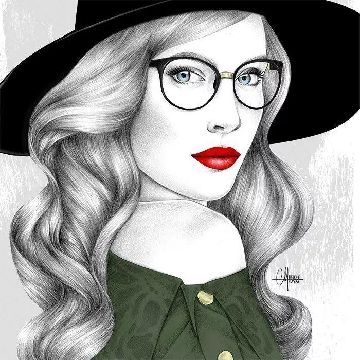 素描插画,她只用一年时间逆袭,却把人物画活了图片