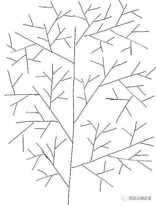 彩铅手绘简笔画树木