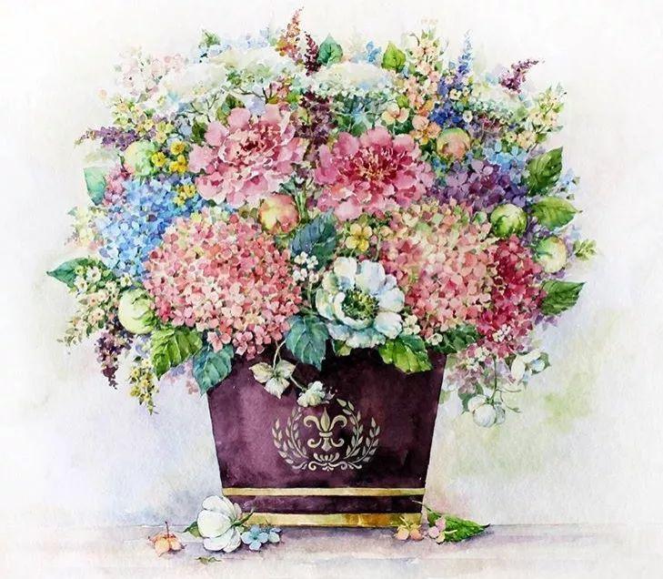 画一束花,微暖你