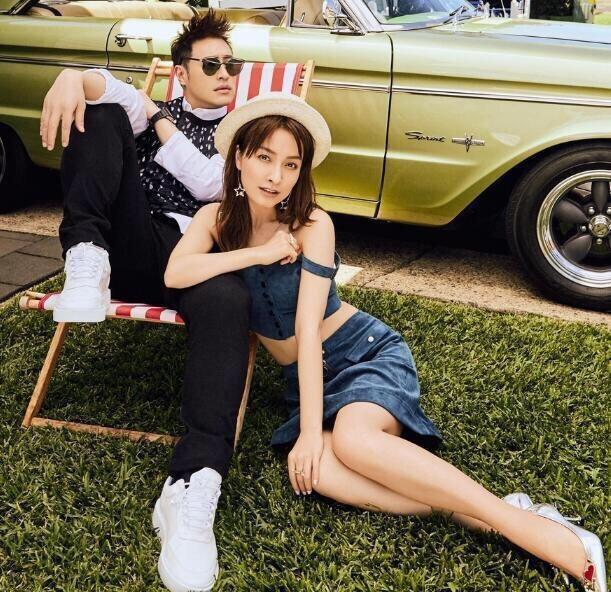 吴昕潘玮柏合体拍时尚杂志,穿情侣装很是般配啊图片