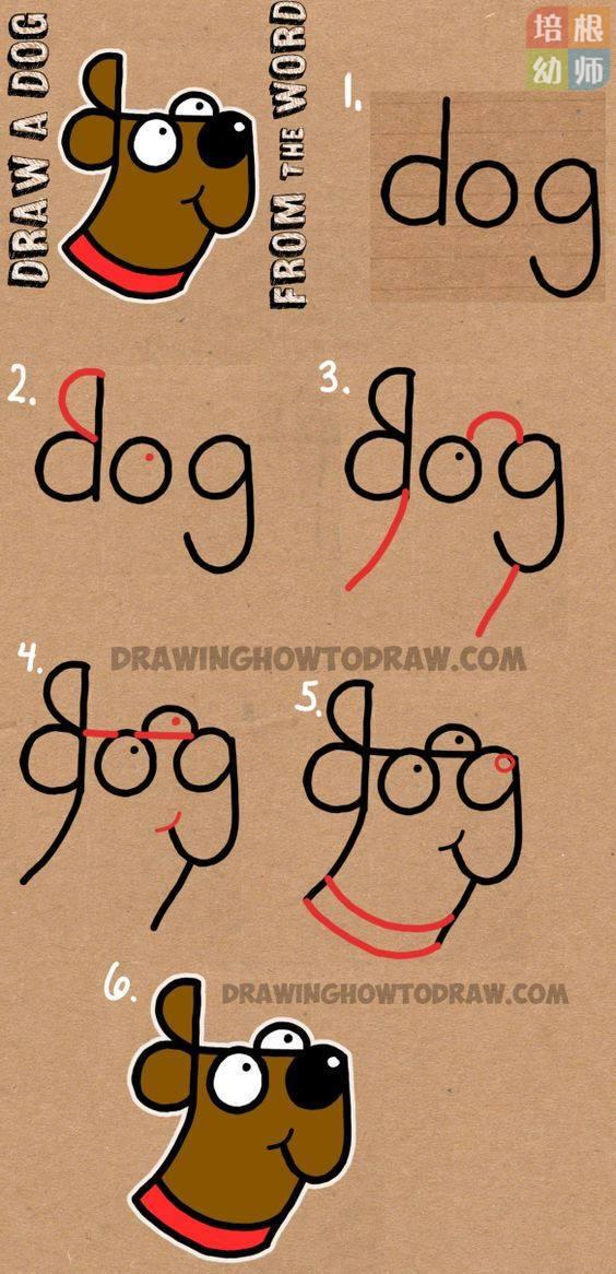 狗年小狗简笔画教程,步骤齐全,一看就会!