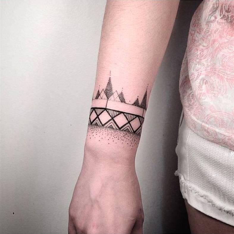 放一波纹身图案推荐:这些几何,点线纹身男女都适用