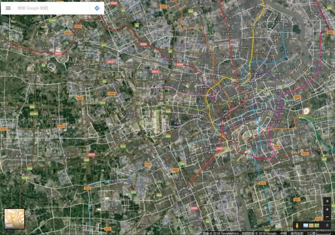 无论是2d地图模式 ▲卫星模式 (图片来源:谷歌地图截图) 看着这些