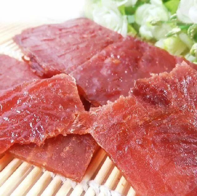 美食肉脯琢裕和猪色泽是以上等猪腿肉为主要食材,现烤现卖,正文棕肉味王调味料怎么用图片