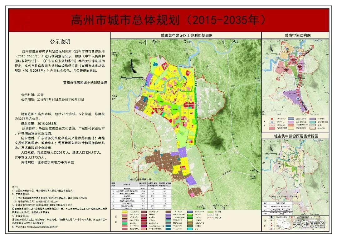 高州市城市总体规划(2015-2035 年)相关规划图 来源|关注茂名 责编