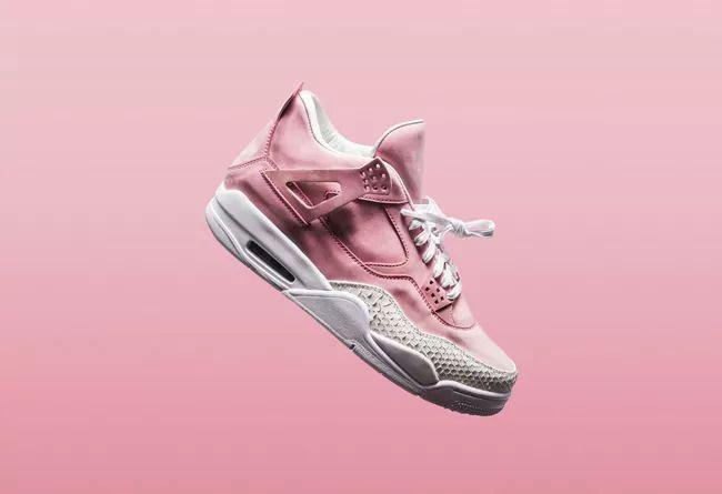 嫩粉玫瑰色艳丽奢华!这双 Air Jordan 4 上充分展现,你值得拥有.