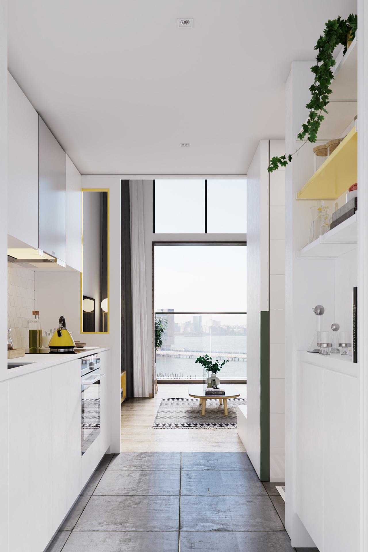 40平小loft公寓装修案例:柠檬黄从来没有如此可爱