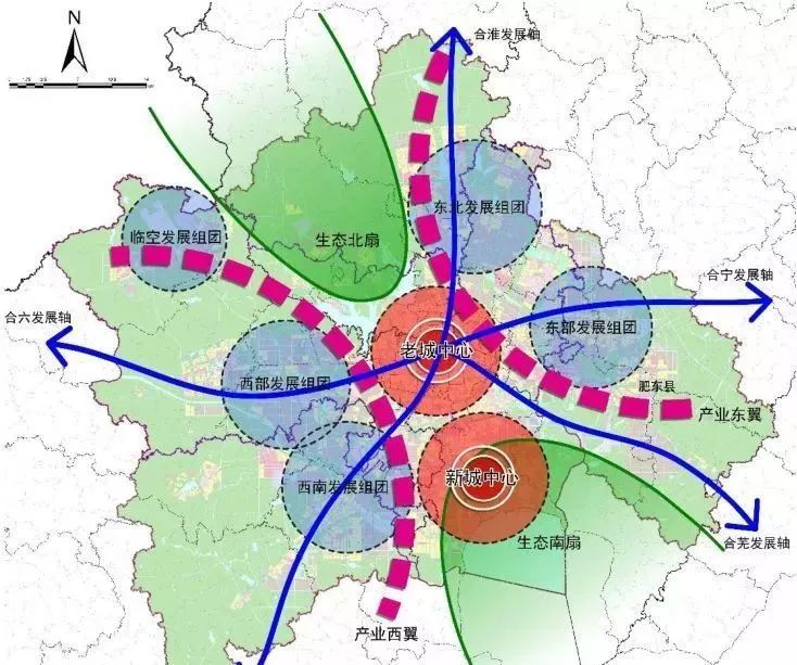 合肥滨湖区总体规划图