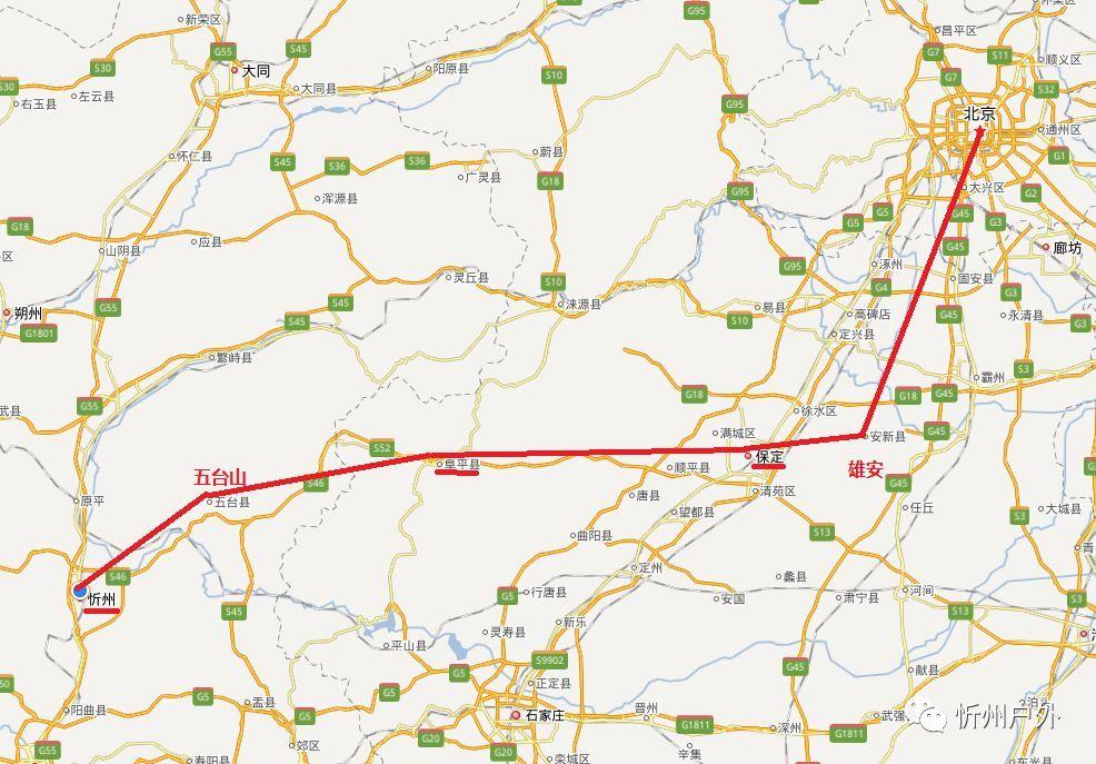 咱家门口将来三条重要高铁经过,忻州大旅游格局即将到来