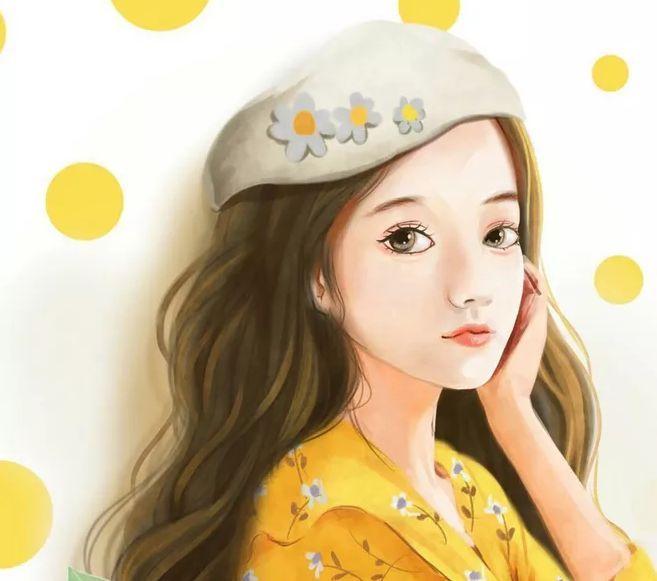 现代13岁女娃手绘