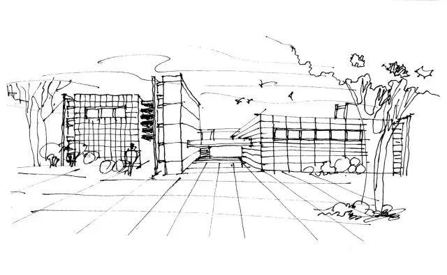 动漫 正文  一点透视适合于方块形体建筑物的手绘,可以是一个建筑物