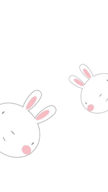 「壁纸锁屏」可爱手绘壁纸,萌兔子要收养吗