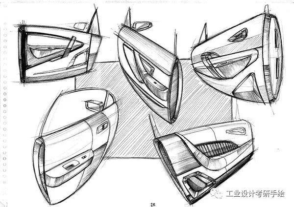 里面除了细致的产品设计手绘图,还有被灵感驱动的意向