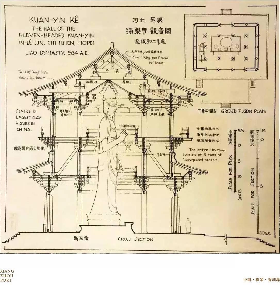 梁思成手绘中的中国建筑,领略大家匠心之作!