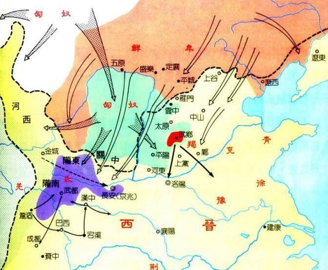 十六国时期匈奴人口_秦朝时期匈奴分布