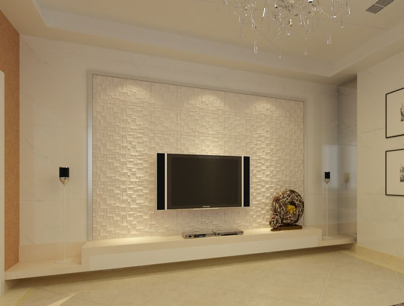 创意的设计思维相互贯通,重叠优化电视背景墙的时代节奏,由此形成现代图片