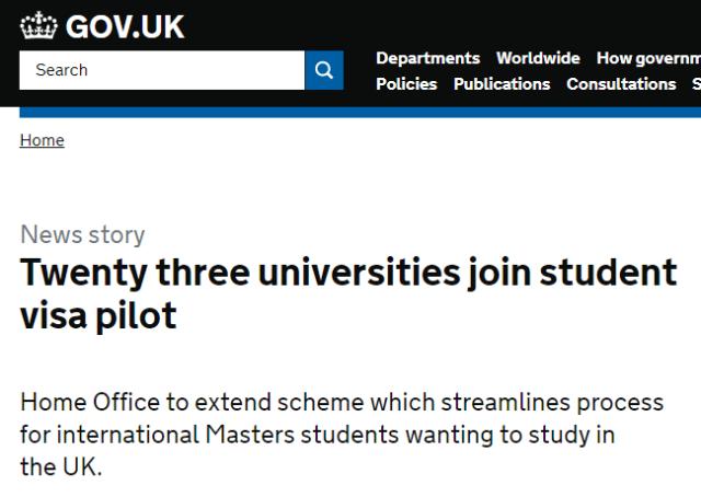 英国研究生毕业可获6个月工作签