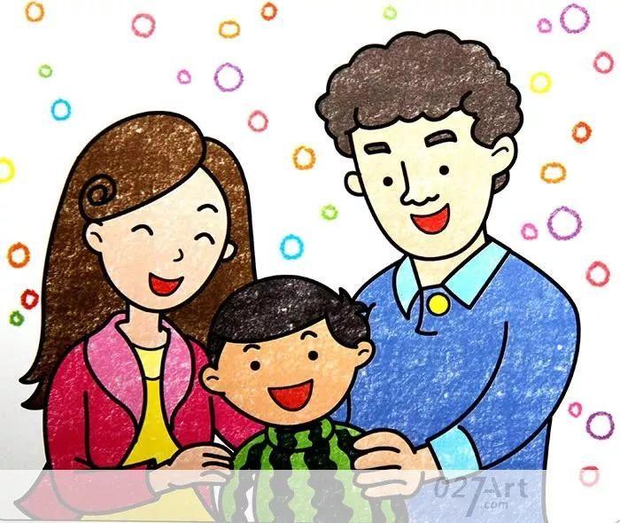 感受和爸爸妈妈在一起的温馨与快乐