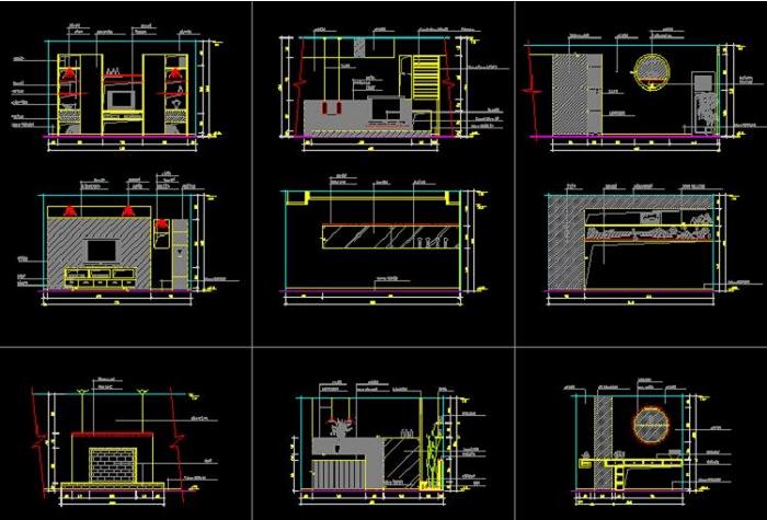 140平方房子cad设计图