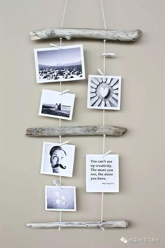 20 创意十足照片墙diy方法,提升家居逼格