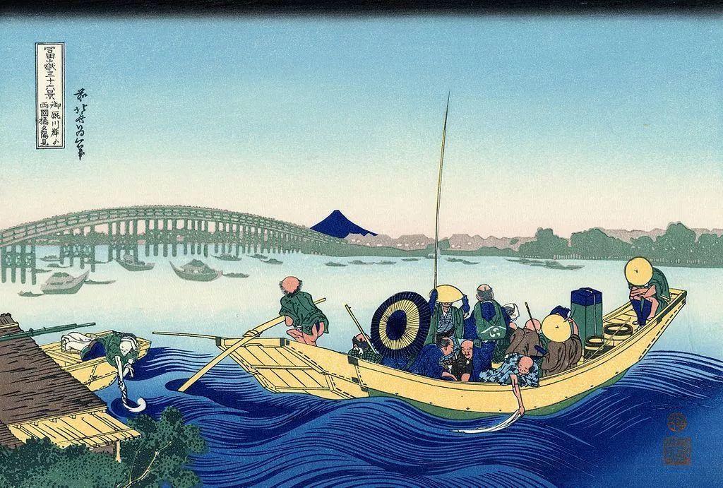 除了名画《神奈川冲浪里》,葛饰北斋同系列的45幅画也一样精彩