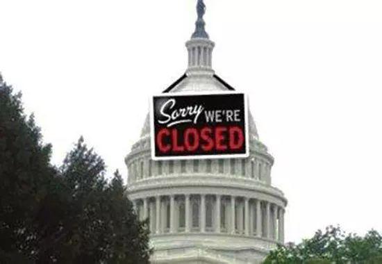 """美国联邦政府正式""""关门""""!85万公务员或被迫停职"""