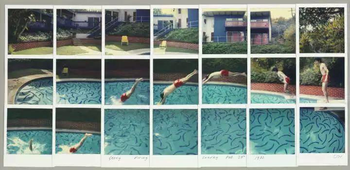 小区泳池手绘透视