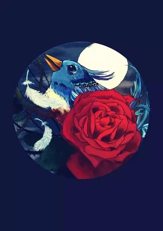 夜莺与玫瑰英文版_林徽因译王尔德:夜莺与玫瑰