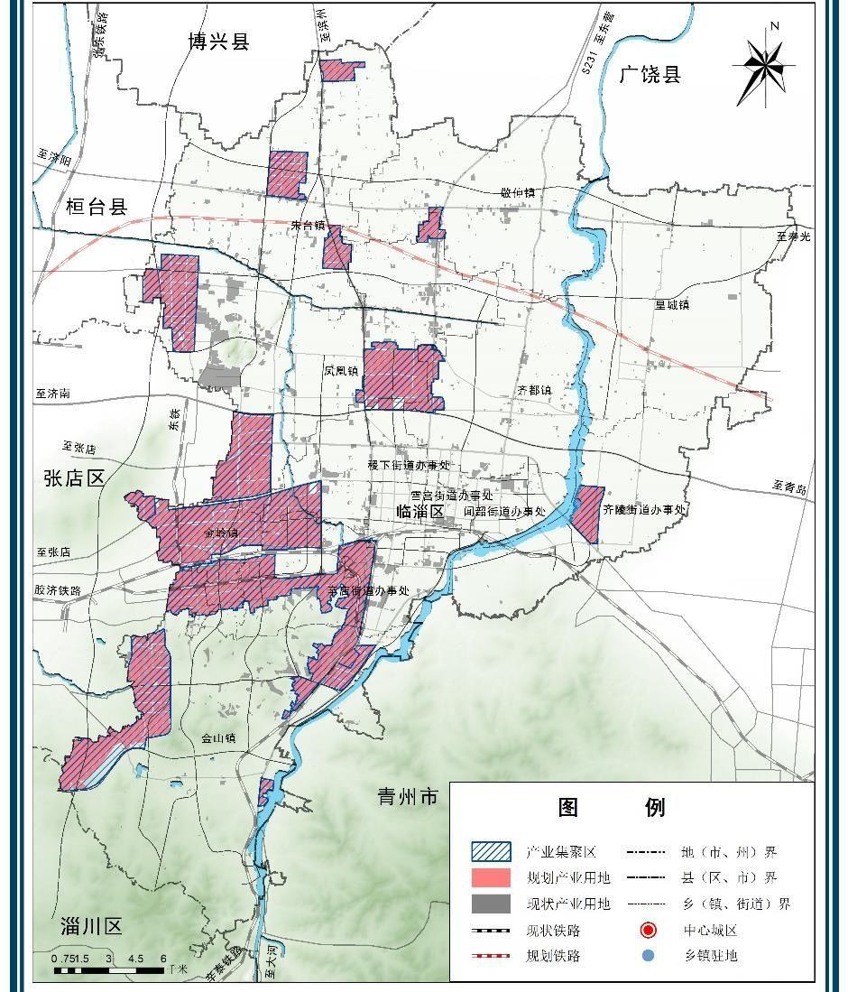 临淄区最新规划图出来啦!涉及交通,城建,旅游