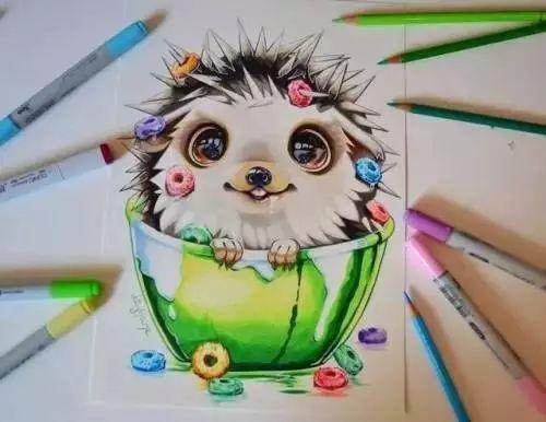 原来马克笔画画这么好看,我一定是买了假的马克笔!