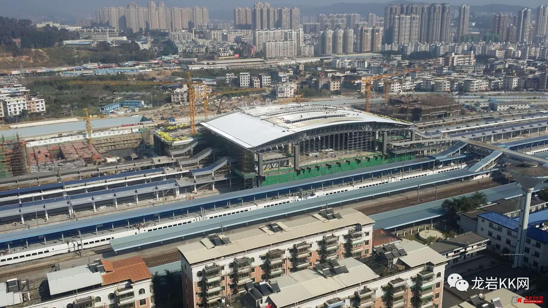 龙岩火车站新站台全面升级,龙岩站将是福建第三大高架跨线候...