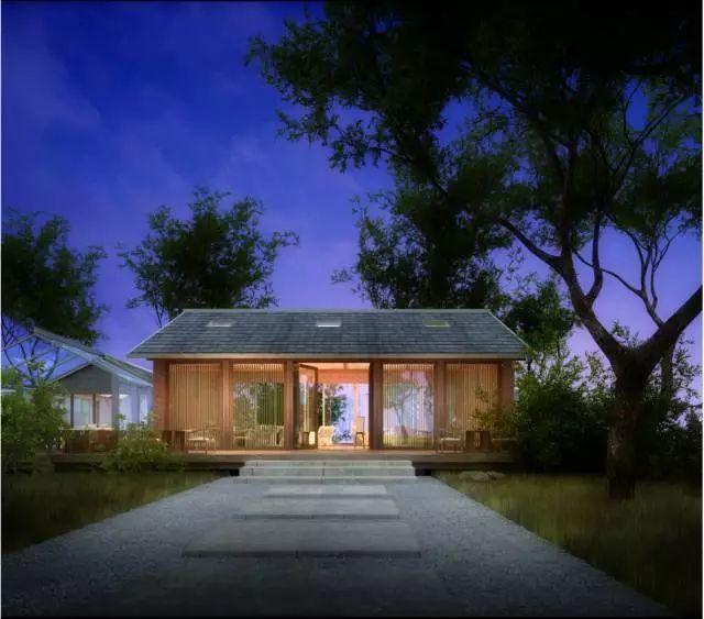 项目中的点状设计就是不同的特色景点,如民宿,有梯田景观的乡村酒吧