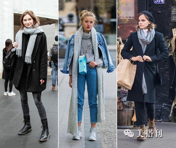 一条围巾让冬季穿搭不再单调