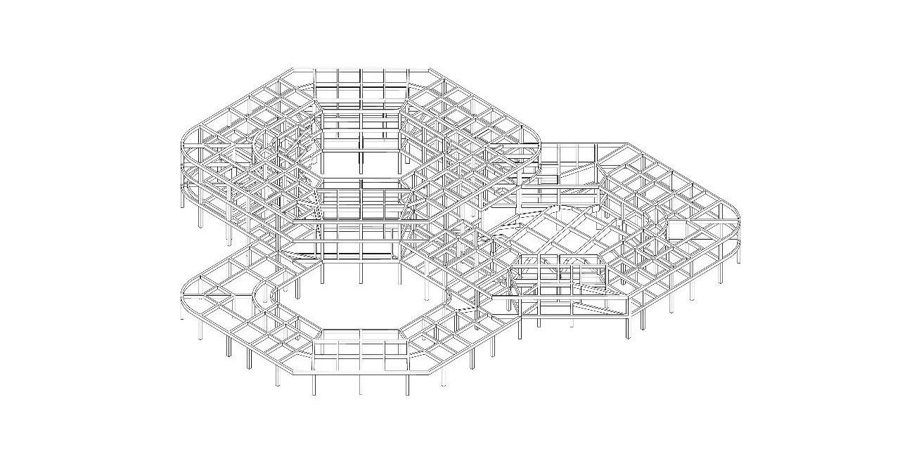 直译建筑-何炼 剖透视图