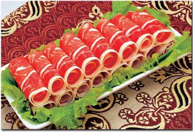 不一定见过和吃过的火锅羊肉,牛肉摆盘集锦,吃货们猛戳查看!