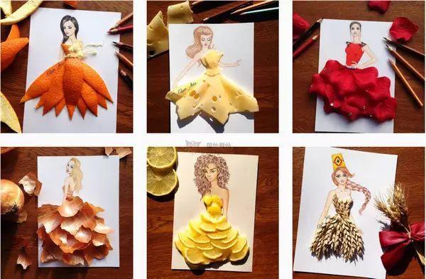 小清新手绘食物裙子