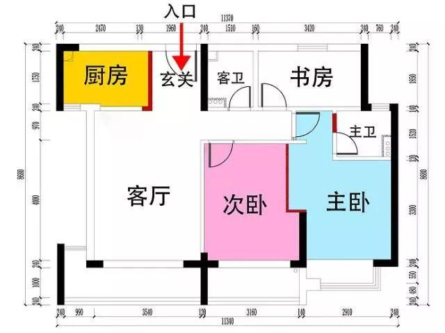 80平的房子装成了三室两厅两卫光看做的柜子就够疯狂
