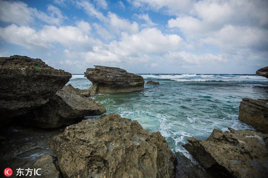 """2018年1月22日,永兴岛,又名""""林岛"""",因东西长约1950米,南北宽约1350米"""