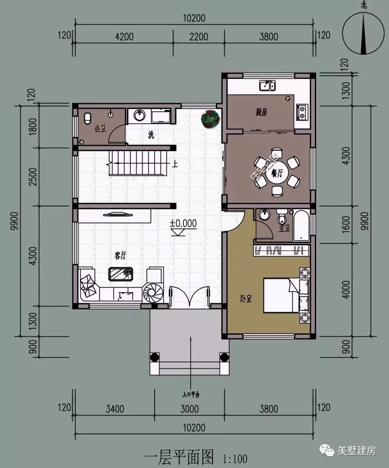 10x12米的农村宅基地,房子该怎么设计?