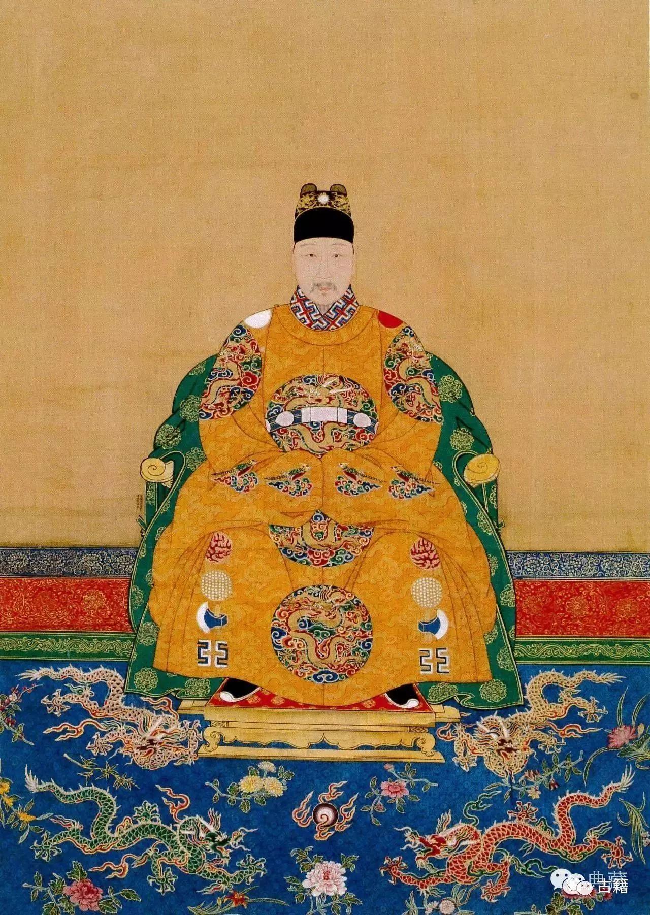 明朝和清朝历代皇帝画像,谁最有帝王之相?图片