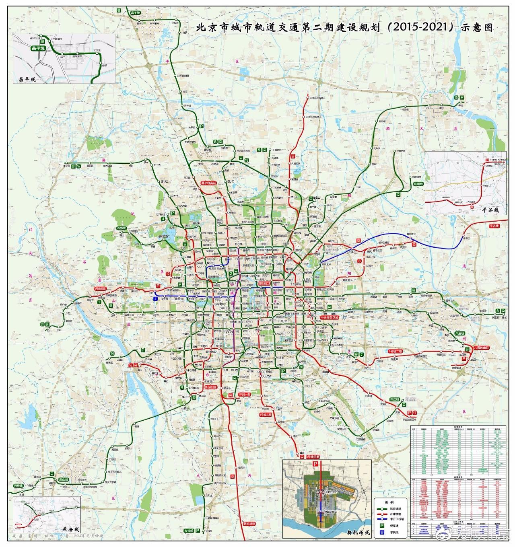 北京地�_北京市到2021年的地铁规划图