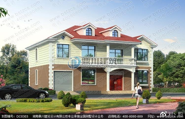 本图纸为农村自建房屋设计图-农村二层自建别墅效果图.