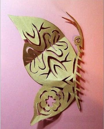 【教程剪纸】亲子技巧蝴蝶产品销售剪纸图片