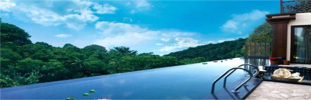 """旅游 正文  集""""山林湖海田""""多重景观于一身,那香山雨林度假酒店是距离图片"""